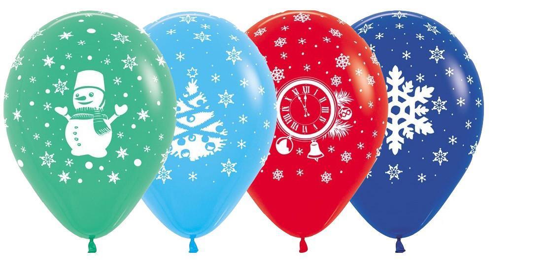 печать шаров на новый год