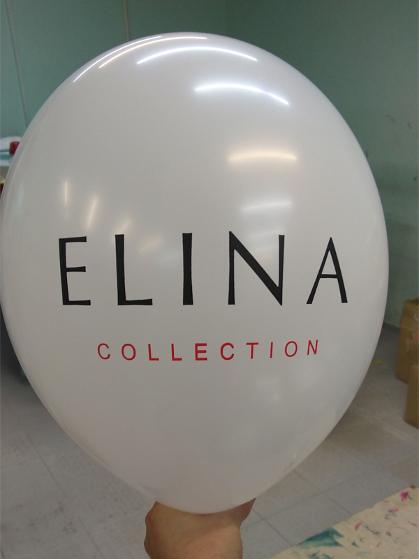 Нанесение логотипа на шары